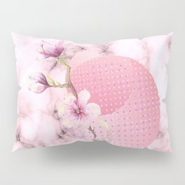 Marble pink Pillow Sham
