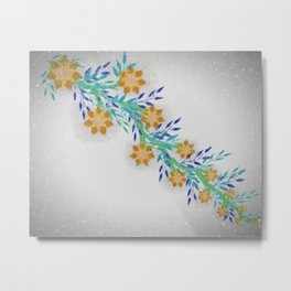 Urban flower  patch Metal Print