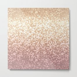 Champagne Gold Blush Pink Glittery Ombre Pattern #society6 Metal Print
