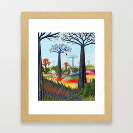 batmans paradise  Framed Art Print