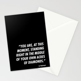 Acres of Diamonds Stationery Cards