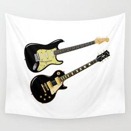 Elecric Guitars Wall Tapestry