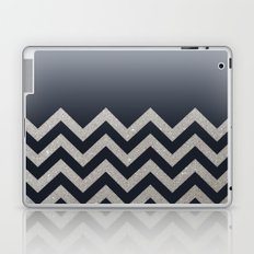 BLACK FADING SILVER CHEVRON Laptop & iPad Skin