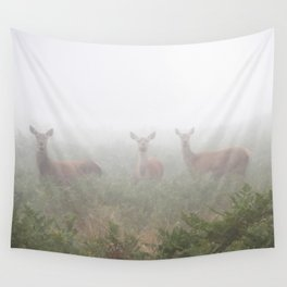 Three in the fog Wall Tapestry