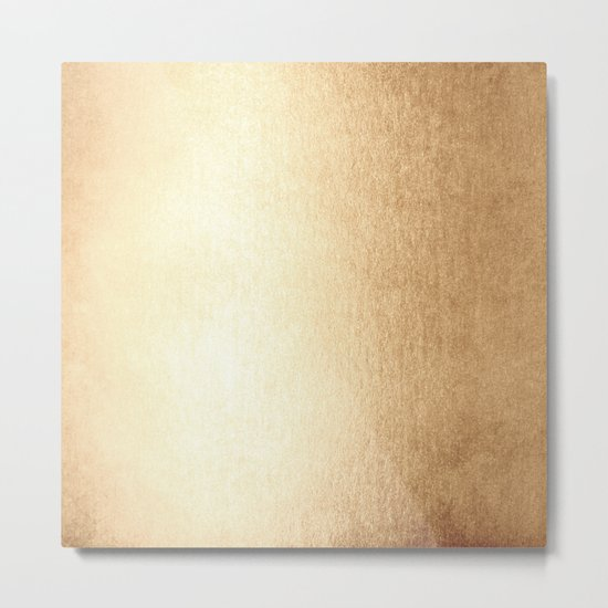 Simply Golden Copper Sun Metal Print
