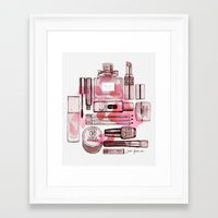 make up Framed Art Prints featuring Make up by Illustra