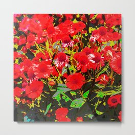 Red flowers garden Metal Print