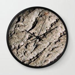 TEXTURES: Walnut Bark Wall Clock