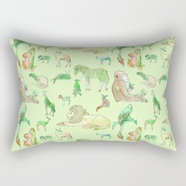 Watercolor Zoo Rectangular Pillow