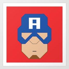 Captain.America Art Print
