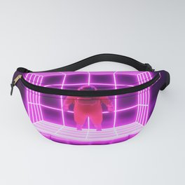 Astronaut and neon light Fanny Pack