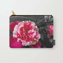 Paeony pink black and white Carry-All Pouch