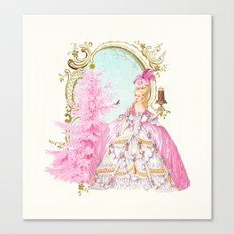 Marie Antoinette Christmas Canvas Print