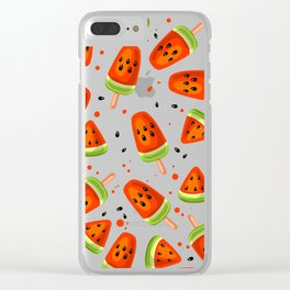 Watermelon pattern Clear iPhone Case