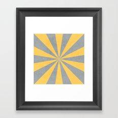 gray and yellow starburst Framed Art Print