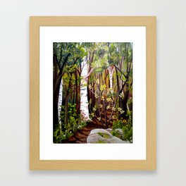 The Woodland Trail Framed Art Print