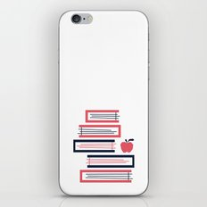 Stacked Books iPhone & iPod Skin
