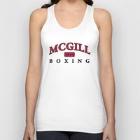 boxing Tank Tops featuring Boxing by EastwardCarrot