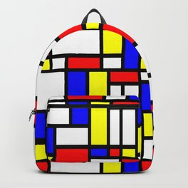 65 MCMLXV Mondrian Color Block Pattern Backpack