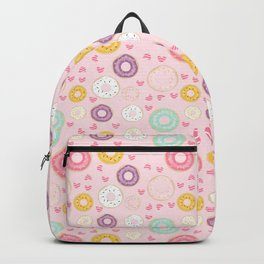 hearts and donuts pink Backpack