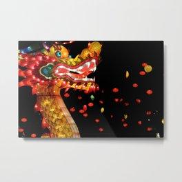 chinese dragon lantern Metal Print