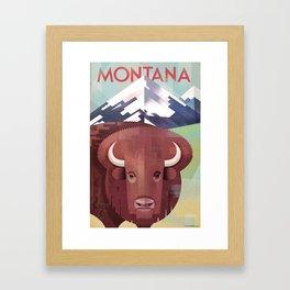 Montana Travel Poster Framed Art Print
