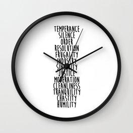 13 Virtues Wall Clock