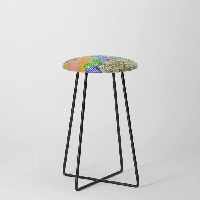 Abstract 2 Counter Stool
