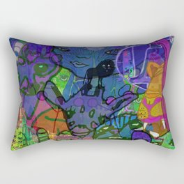 MULTIVERSE MURAL Rectangular Pillow