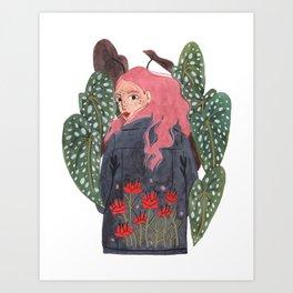 Holding plant Art Print