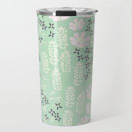 Floral Mint Pattern 013 Travel Mug