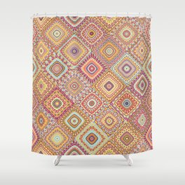 Granny's Millefiori Quilt-Spring Colors Shower Curtain