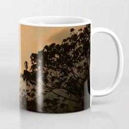 Sunset and silhouette of trees Coffee Mug