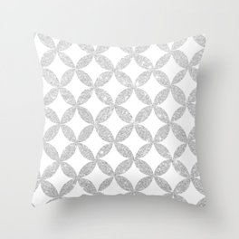 Glitter me Silver Throw Pillow