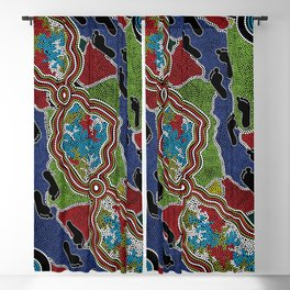 Aboriginal Art Authentic - Walking the Land Blackout Curtain