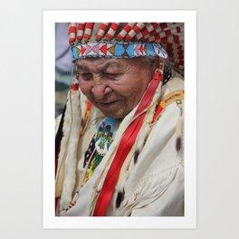 Chief Bald Eagle, Lakota Art Print