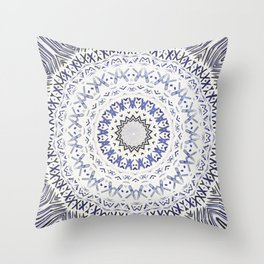 FESTIVAL SUMMER - FADED BLUE Throw Pillow
