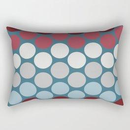 Polka Dot Pop Art Creative Design, Vector Illustration Rectangular Pillow