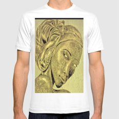 Queen 4 MEDIUM Mens Fitted Tee White