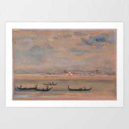 Gondolas by Arthur Bowen Davies Art Print