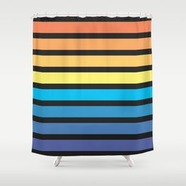 Stripe Sunset Shower Curtain