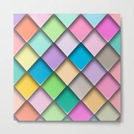 Color Rotate Square Art Metal Print