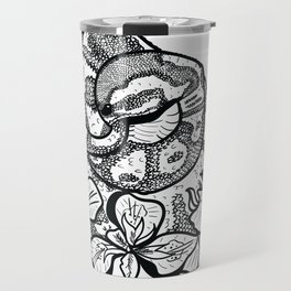 Python and iris flowers Travel Mug