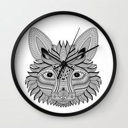 Foxy Fox Dark Wall Clock