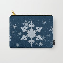 Snow Falls - Blue Carry-All Pouch