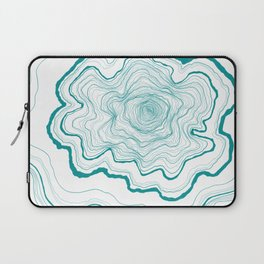 Tree Rings of Turquoise Laptop Sleeve