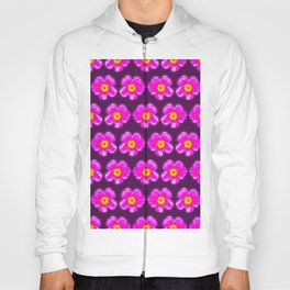 Pink floral pattern on a burgundy background, Girly Pattern Hoody