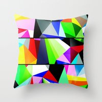 trip Throw Pillows featuring Trip by Shaun Drew