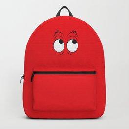 Monster Eyes Red Backpack