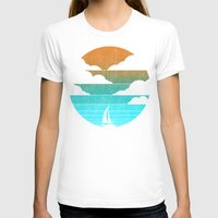 sail T-shirts featuring Go West (sail away in my boat) by Picomodi